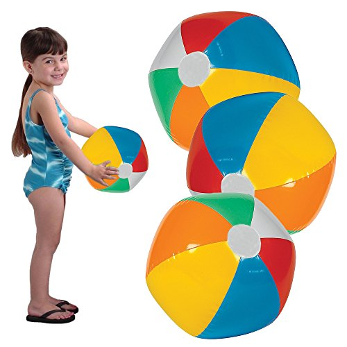 "Toy Cubby Rainbow Inflatable 12"" Beach and Pool Party Ball - 24 pieces (Piece 24 Balls)"