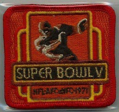 01/17/1971 Super Bowl V Press Patch Colts  Versus Cowboys