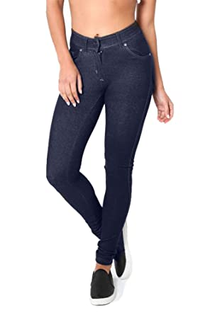 93aa5bd386fd2 ROCKBERRY Skinny Womens Jeans Stretchy Jeggings Ladies New Fit Coloured  Trousers: Amazon.co.uk: Clothing