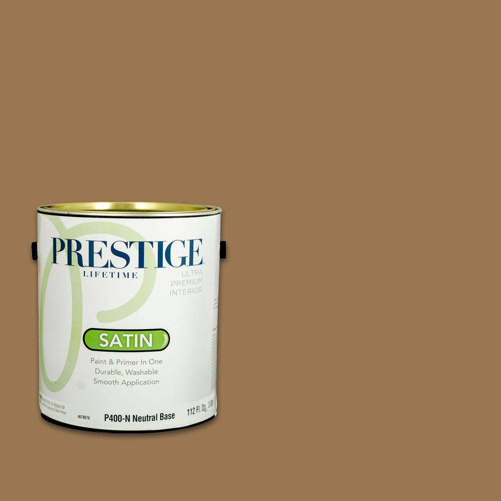 Prestige, Browns and Oranges 4 of 7, Interior Paint and Primer In One, 1-Gallon, Satin, Bronze Beauty by Prestige Paints