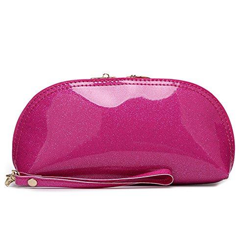 Exquisite Lackleder Handgelenktaschen Telefon Geldbörsen/Geldbeutel Clutches Handtasche Wristlet / Handgelenk Strap / Card Slots / Cash Tasche-Fit iPhone Pink Glitter Kh0R75Mkp