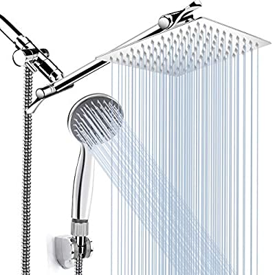 8 High Pressure Rainfall Shower Head Handheld Shower Combo With