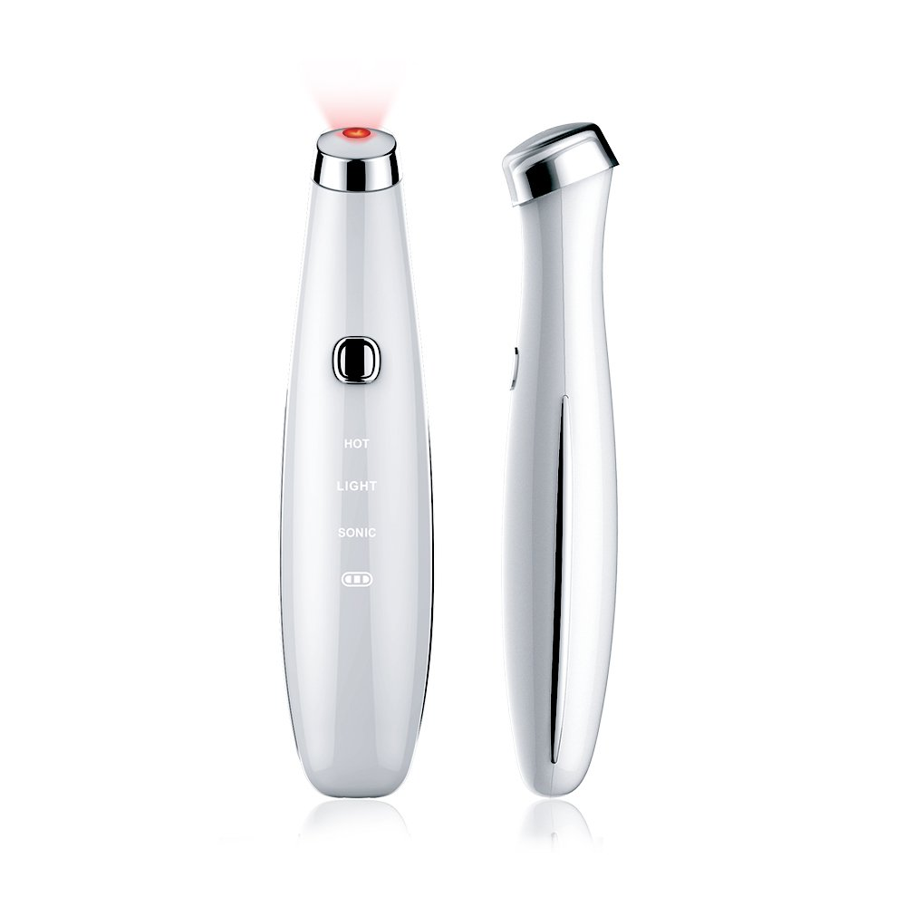 TOUCHBeauty Sonic & Heated Eye Treatment Pen Red Light Sonic Eye Massage Pen Heated Eye Massager (TB-1662)