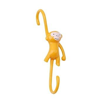 meolin Cute Mono con forma de S de plástico gancho para colgar para hogar y oficina para utensilios de cocina gancho: Amazon.es: Hogar