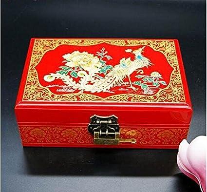 21 cm hecho a mano de madera barnizado pintado caja de almacenamiento para una variedad de