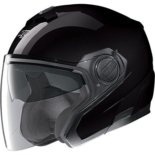 Nolan N40 MCS 2 Gloss Black Open Face Helmet, (N-com Motorcycle Helmet)