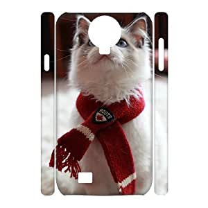 wugdiy Brand New Phone 3D Case for SamSung Galaxy S4 I9500 with diy Small cat