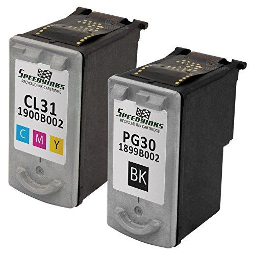 31 Printer Cl Cartridge (Speedy Inks - Remanufactured Canon PG-30 Black CL-31 Color Set of 2 1 Black 1 Color for use in PIXMA iP1800, PIXMA MP470, PIXMA MP210, PIXMA MX310, PIXMA MX300, PIXMA iP2600, PIXMA MP140, MP190)