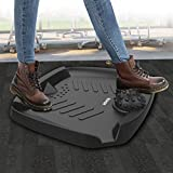 Standing Desk Mat, VESHOW Premium Anti-Fatigue Comfort Mat, Perfect for Kitchens and Standing Desks, Not-Flat Ergonomic Comfort Anti Fatigue Mat with Foot Massage, 30x24.6x4.2 in, Black