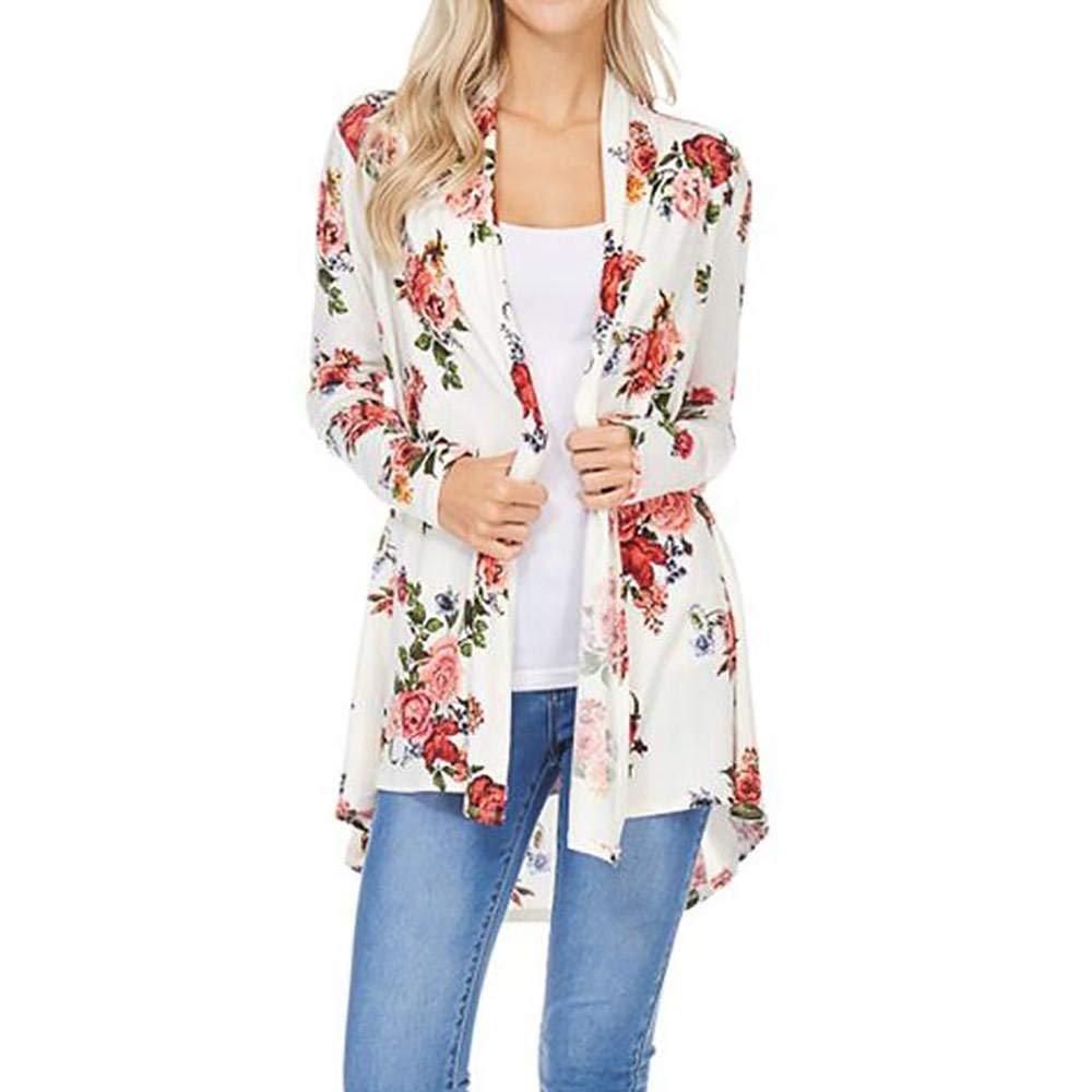 Mujer Cardigan Verano Florales Kimono Elegante Vintage Moda Ocasional Cómodo Hipster Abrigos Bastante Manga Larga Asimetricos Moda Verano Tunicas Outwear: ...