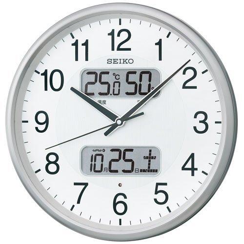 (セイコークロック) SEIKO CLOCK KX383S 電波壁掛け時計 ホワイト シルバー 白 銀色 B00MCJ6AX8