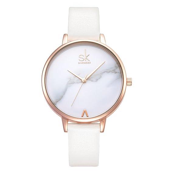 be7923869 Women Watches Leather Band Luxury Quartz Watches Girls Ladies Wristwatch  Relogio Feminino (K0039-White
