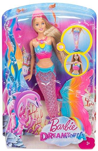 Barbie dreamtopia rainbow lights mermaid doll blonde - Barbi la sirene ...