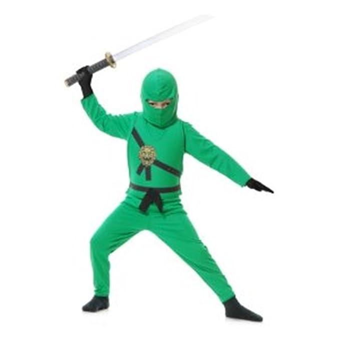 Amazon.com: Disfraz de ninja Avenger Niño Verde – Grande ...