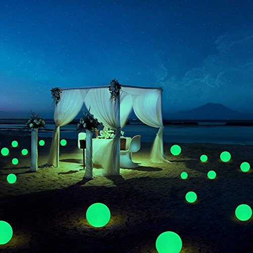 Tker LED Light Ball Waterproof Floating 16RGB Rechargeable Mood Ball Light 5-inch LED Color-Changing with Remote and Multi-Color Control for Night Light Party Pool Patio Ambient & Decorative by Tker