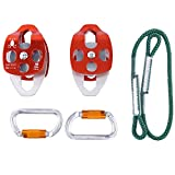 YaeTact Outdoor Sports Hardware Kit for 5:1 Mechanical Advantage Pulley/Hauling / Dragging System Block and Tackle