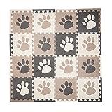 Best Baby Play Mats - Tadpoles Playmat Set 16-Piece Pawprint, Brown Review