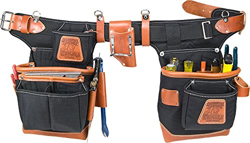 "Occidental Leather 9850 Adjust-to-Fitâ""¢ Fat Lipâ""¢ Tool Bag Set - Black"