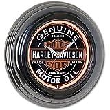 Harley-Davidson Oil Can Neon Wall Clock