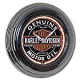 Harley-Davidson Oil Can Neon Wall Clock