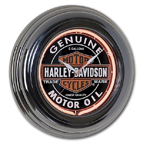 Harley-Davidson Oil Can Neon Wall Clock (Harley Davidson Neon Clock)