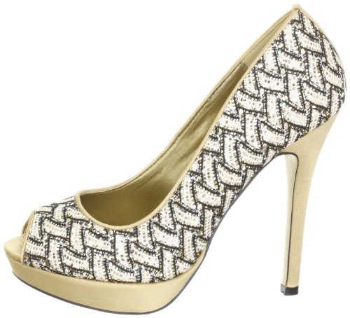 Danphne Vestir Para Paco braun Mena 29 gold gold Dorado De Mujer Zapatos Satén 04884 XHZqwH