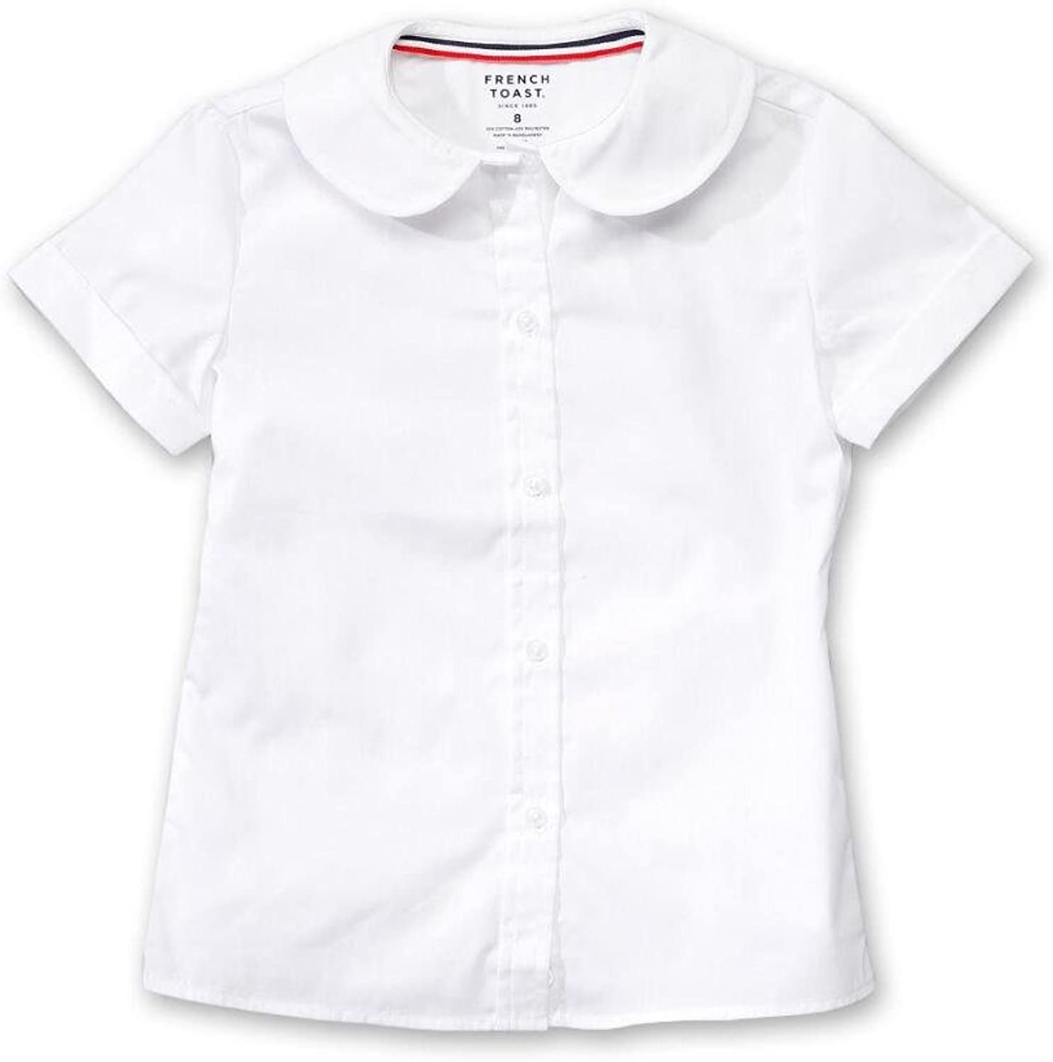 French Toast Womens Short Sleeve Stretch Blouse