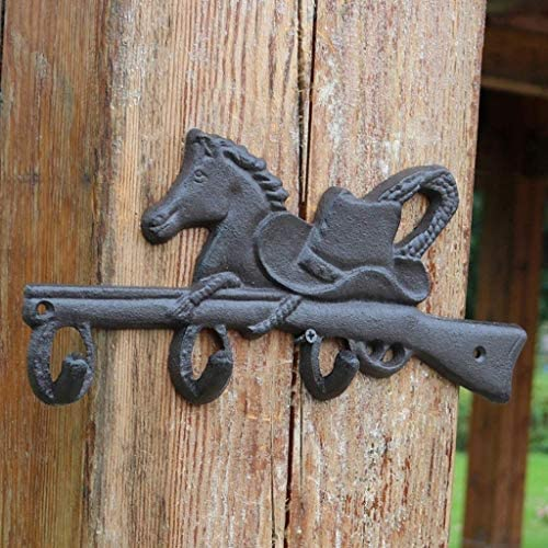 ST-ST ヨーロッパやアメリカのヴィンテージカントリー錬鉄製の装飾フック