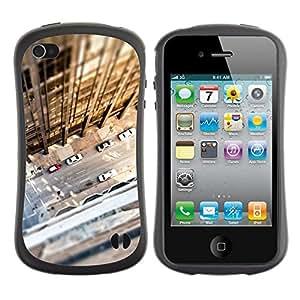 """Pulsar iFace Series Tpu silicona Carcasa Funda Case para Apple iPhone 4 / iPhone 4S , Tilt Shift Calle Edificio Sun del verano"""""""