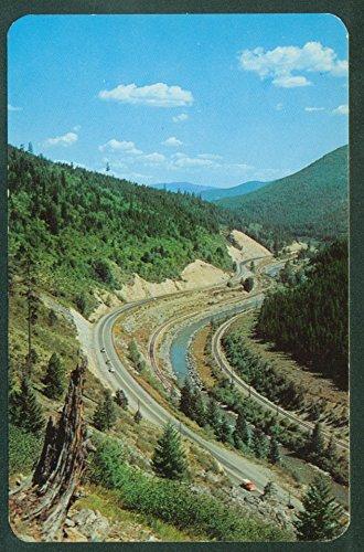 MONTANA HIGHWAY10 LOOKOUT PASS TRAIN TRACKS Regis River Railroad Postcard