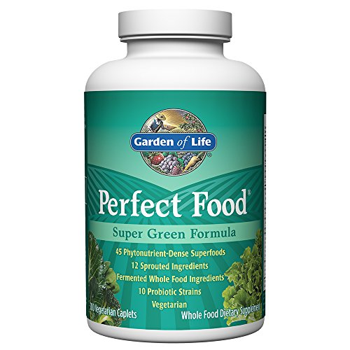 Garden of Life Whole Food Vegetable Supplement - Perfect Food Green Superfood Dietary Supplement, 300 Vegetarian Caplets (Life Veggie)