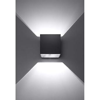 K Bright 12w Lampe Murale Noir Avec Design Dangle De Faisceau