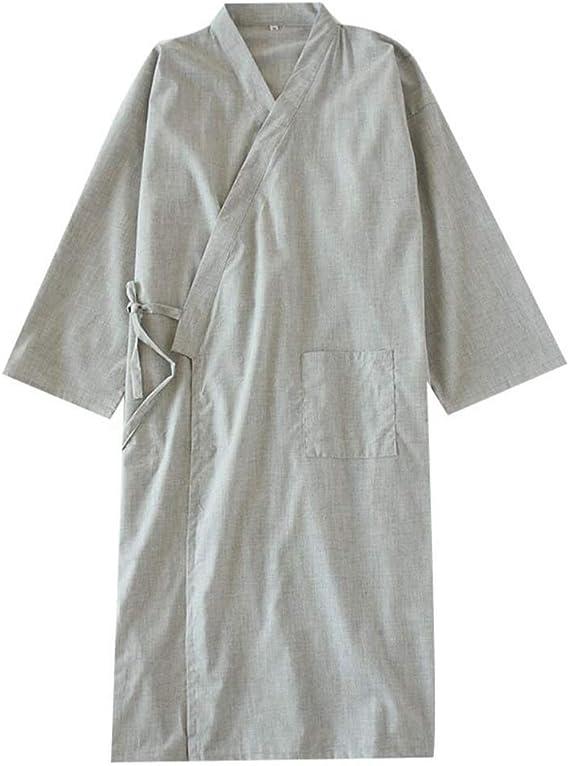 Camisón de Pijama de Kimono de algodón para Hombre japonés con ...