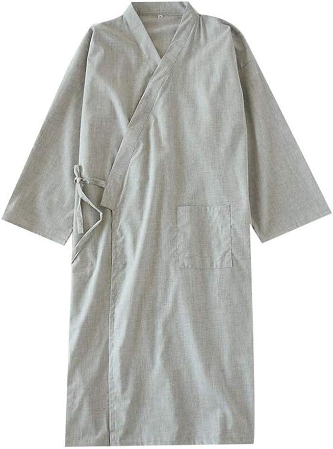 Camisón japonés para Hombre, Pijama de algodón, Pijama, camisón [G1, Talla XL]: Amazon.es: Ropa y accesorios