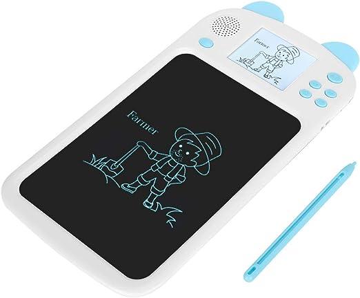 疲れない、ブルーライトのない子供たちがタブレットを描く、LCDライティングボード、子供が絵を描くための音声放送機能(blue)