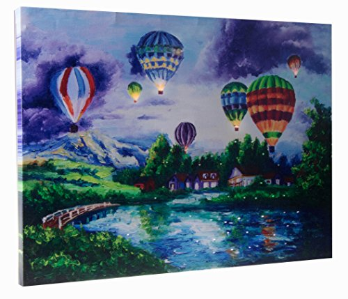 Hot Air Balloons Light Up Wall Art by Clever Creations