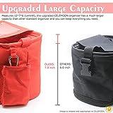 CELEMOON Universal Stroller Organizer Bag - Premium Quality Stroller Fits All Baby Strollers - Bonus Handy Stroller Hook (Red)