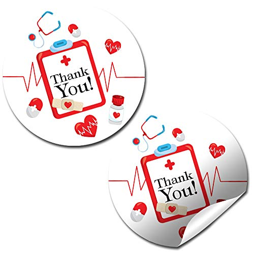 She Calls The Shots Nursing School Graduation Nurse Themed Thank You Sticker Labels, 40 2