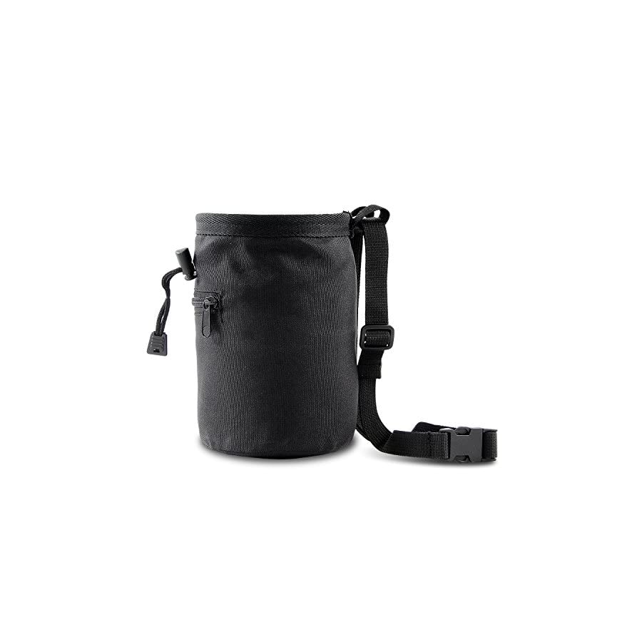 Rock Climbing Chalk Bag With Belt and Zipper Pocket For Chalk Storage Ideal For Rock Climbing, Mountaineering, Bouldering & Gymnastics with Drawstring Closure, Quick clip Belt