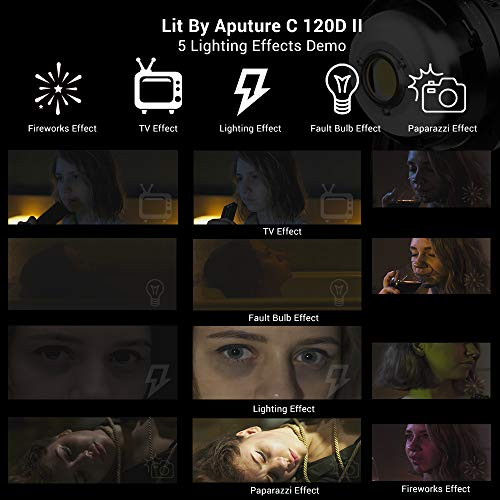 Aputure 120D Mark 2, 120D II LED, 180W Daylight Balanced Led Video Light with PERGEAR Soft Diffuser, 30,000 lux@0.5m, CRI96+ TLCI97+, Support DMX, 5 Pre-Programmed Lighting Effects, Ultra Silent Fan by Aputure (Image #4)