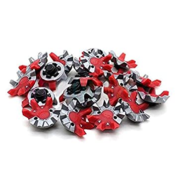 MamimamiH New 6pcs Callaway Golf Shoe Spikes Puslar Cleats Fast Twist  Tri-LOK Fit Foot Joy Red Gray  Amazon.co.uk  Sports   Outdoors be251e94a
