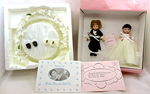 Madame Alexander Cake Topper #33570,Bride & Groom,rose Decorated Base,floral Arch,collector Registration - Floral Collector
