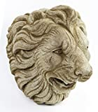 Italian Lion Head Concrete Wall Plaque Cement Vatican Lion European Garden Statue Cast Stone Figure Sculpture Garden Art Decor
