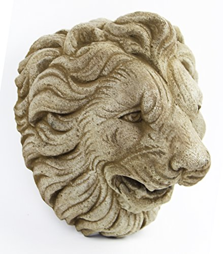 Italian Lion Head Concrete Wall Plaque Cement Vatican Lion European Garden Statue Cast Stone Figure Sculpture Garden Art Decor (Statue European Art Sculpture)