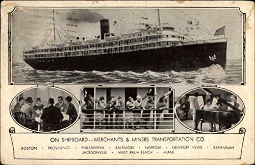 On Shipboard-Merchants & Miners Transportation Co Boats Ships Original Vintage Postcard from CardCow Vintage Postcards