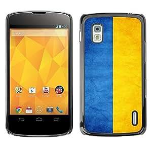 Shell-Star ( National Flag Series-Ukraine ) Snap On Hard Protective Case For LG Google NEXUS 4 / Mako / E960