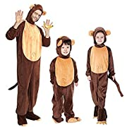 Halloween Animal Cosplay Monkey Costumes Parent-Child Hooded Pyjamas (Medium)