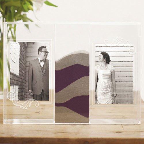Weddingstar Inc. Clearly Love Sand Ceremony Shadow Box with Photo Frames