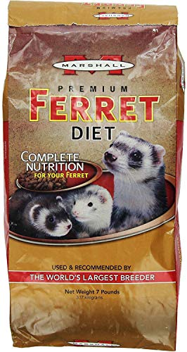 Marshall Premium Ferret Diet Food, 7 Pound, 2 Pack