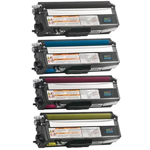 Do it Wiser Compatible Toner Set Black Cyan Magenta Yellow For Brother HL-4140CN HL-4150CDN HL-4570CDW MFC-9460CDN MFC-9560CDW MFC-9970CDW - TN315BK TN315C TN315M TN315Y TN315 - Black Extra High Yield 6,000 pages and Color Extra High Yield 3,500 pages (4